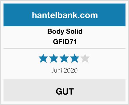 Body-Solid GFID71 Test