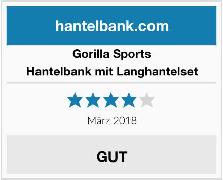 GORILLA SPORTS Hantelbank mit Langhantelset Test