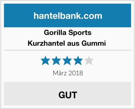 GORILLA SPORTS Kurzhantel aus Gummi  Test