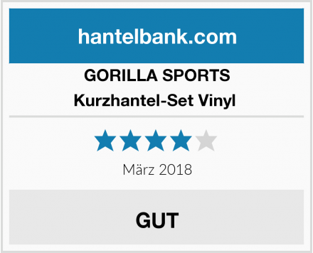 GORILLA SPORTS Kurzhantel-Set Vinyl  Test