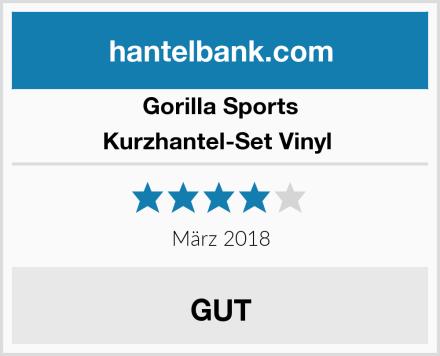 GORILLA SPORTS Kurzhantel-Set Vinyl  Test