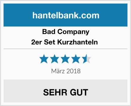 Bad Company 2er Set Kurzhanteln  Test