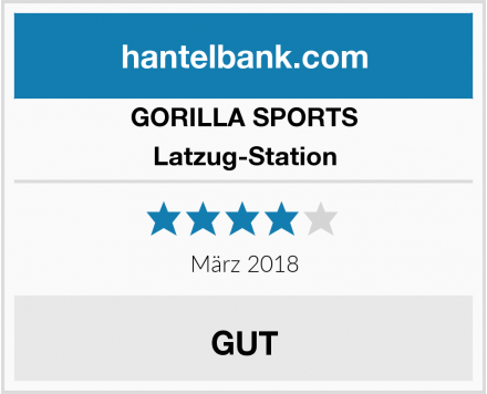 GORILLA SPORTS Latzug-Station Test