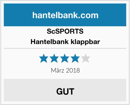 ScSPORTS Hantelbank klappbar Test