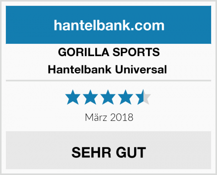 GORILLA SPORTS Hantelbank Universal  Test