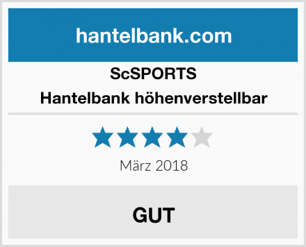ScSPORTS Hantelbank höhenverstellbar Test