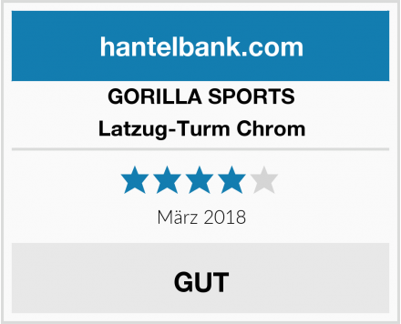 GORILLA SPORTS Latzug-Turm Chrom Test