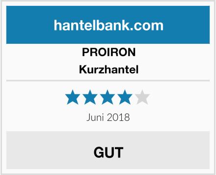 PROIRON Kurzhantel Test