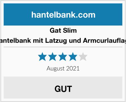 Gat Slim Hantelbank mit Latzug und Armcurlauflage Test