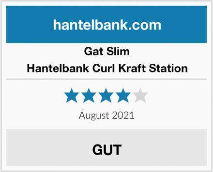 Gat Slim Hantelbank Curl Kraft Station Test