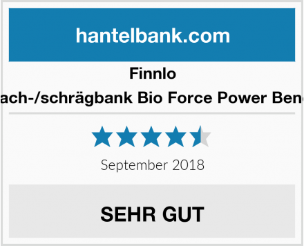 Finnlo Flach-/schrägbank Bio Force Power Bench Test