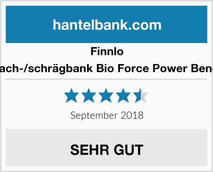 Finnlo Flach-/schrägbank Bio Force Power Bench Test