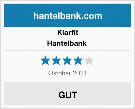 Klarfit Hantelbank  Test